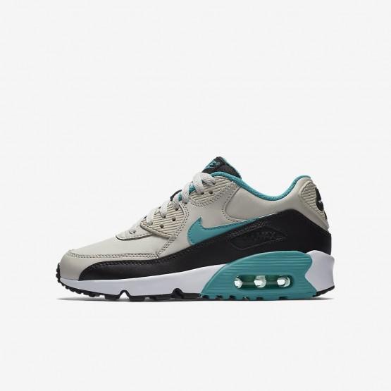 Zapatillas Casual Nike Air Max 90 Niño Claro Negras/Blancas/Turquesa 833412-019