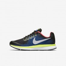 Nike Zoom Pegasus Running Shoes Boys Black/Volt/Racer Blue/Chrome 881953-005