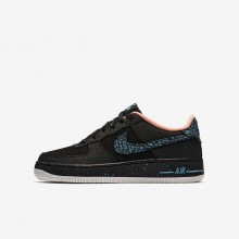 Nike Air Force 1 Lifestyle Shoes Boys Black/Crimson Pulse/Summit White/Lagoon Pulse AJ4234-002
