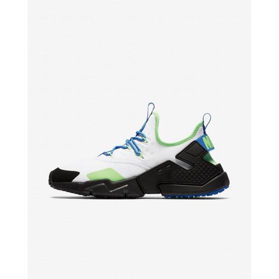 Chaussure Casual Nike Air Huarache Homme Blanche/Noir/Bleu AH7334-102