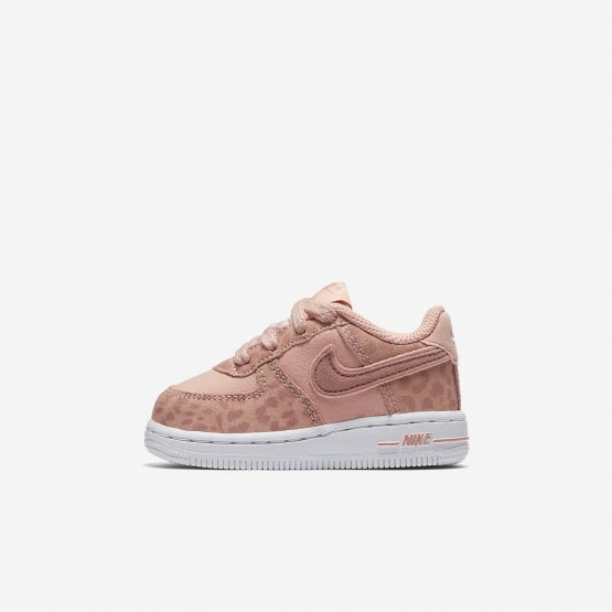 Chaussure Casual Nike Air Force 1 Fille Corail/Blanche/Rose AH7530-600