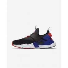 Nike Air Huarache Lifestyle Shoes Mens Black/Rush Orange/Lagoon Pulse/Rush Violet AH7335-002