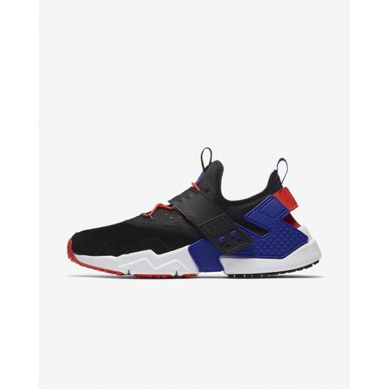 Nike Air Huarache Lifestyle Shoes Mens Black/Rush Orange/Lagoon Pulse/Rush Violet AH7335-002