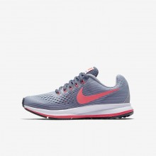 Nike Zoom Pegasus Running Shoes Girls Provence Purple/Light Carbon/Black/Solar Red 881954-501