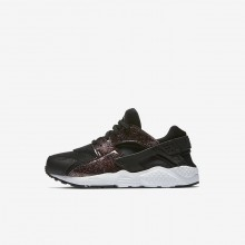 Nike Huarache Lifestyle Shoes Girls Black/Pink Prime/White 859591-006