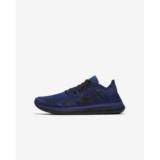 Chaussure Running Nike Free RN Garcon Bleu Foncé Royal Bleu/Rose/Noir 881973-403