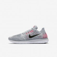 Nike Free RN Running Shoes Boys Wolf Grey/Pure Platinum/Cool Grey/Black 881974-001