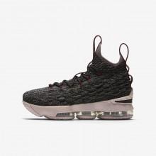 Chaussure de Basket Nike LeBron 15 Garcon Noir/Rouge/Metal Doré 922811-003