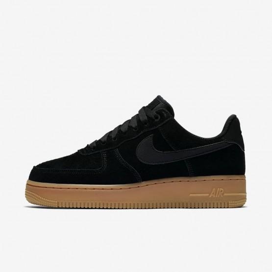 Nike Air Force 1 Lifestyle Shoes Womens Black/Gum Medium Brown/Ivory AA0287-002