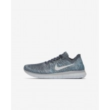 Nike Free RN Running Shoes Boys Blue Fox/Wolf Grey/White/Pure Platinum 881973-402