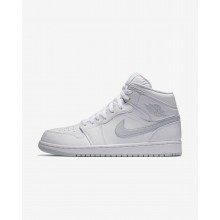 Air Jordan 1 Lifestyle Shoes Mens White/Pure Platinum 554724-108