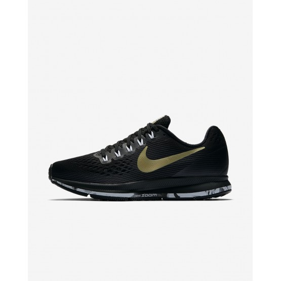 Nike Air Zoom Running Shoes Womens Black/Anthracite/White/Metallic Gold Star 880560-017