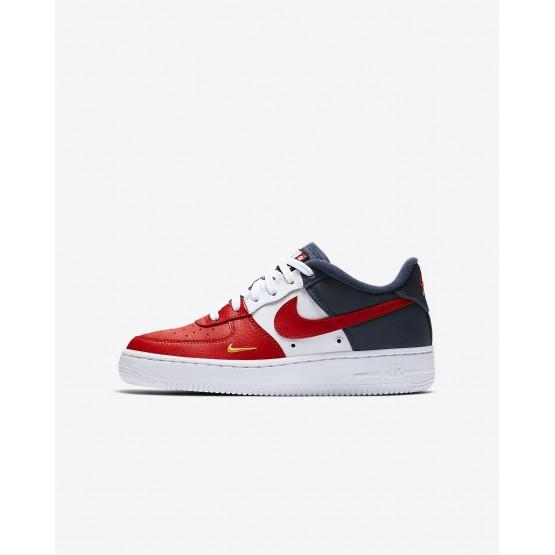 Chaussure Casual Nike Air Force 1 Garcon Rouge/Bleu Marine/Doré 820438-603