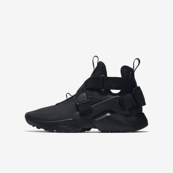 Nike Huarache Lifestyle Shoes Boys Black/White AJ6662-003