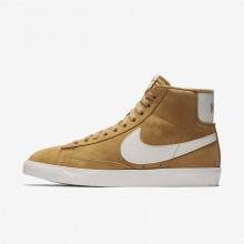 Nike Blazer Mid Lifestyle Shoes Womens Elemental Gold/Sail/Black 917862-700