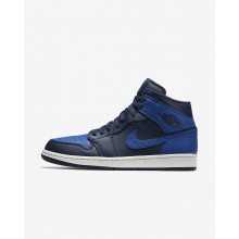 Air Jordan 1 Lifestyle Shoes Mens Obsidian/Summit White/Game Royal 554724-412