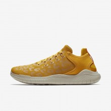Nike Free RN Running Shoes Womens Yellow Ochre/University Gold/Oil Grey AQ0562-700