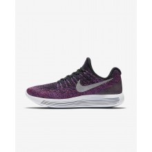 Nike LunarEpic Low Running Shoes Womens Black/Hyper Punch/Persian Violet/Metallic Silver 863780-015