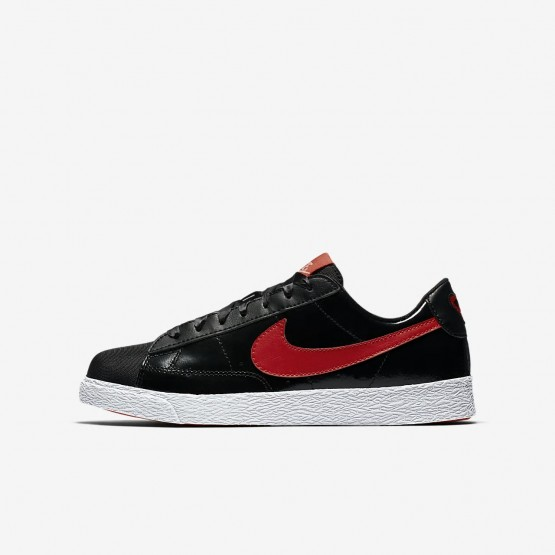 Chaussure Casual Nike Blazer Fille Noir/Corail/Rouge AO1033-001