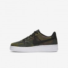 Nike Air Force 1 Lifestyle Shoes Boys Medium Olive/Baroque Brown/Sequoia/Black 820438-204