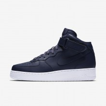 Nike Air Force 1 Lifestyle Shoes Mens Obsidian/White 315123-415
