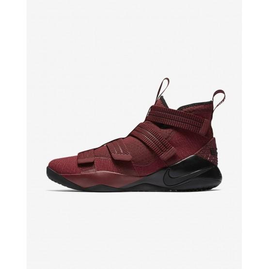 Chaussure de Basket Nike LeBron Soldier XI Femme Rouge/Blanche/Noir 897646-600