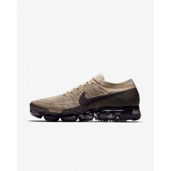 Nike Air VaporMax Running Shoes Mens Khaki/Anthracite/Pale Grey/Black 849558-201