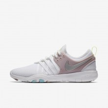 Chaussure De Sport Nike Free TR Femme Blanche/Rose/Metal Argent 904651-102