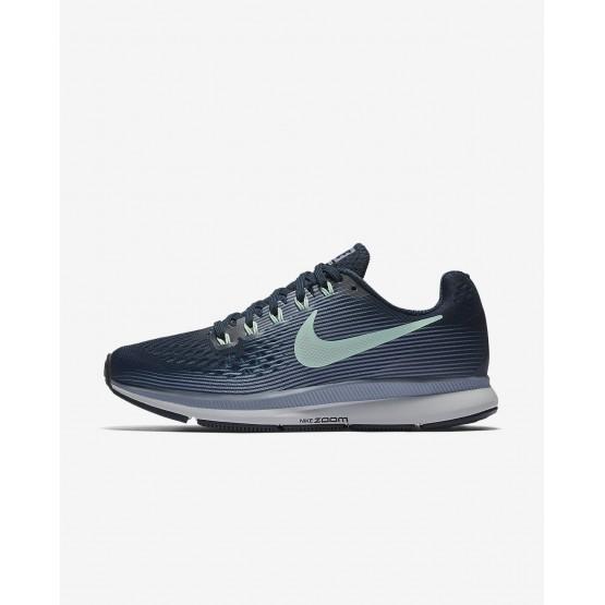 Chaussure Running Nike Air Zoom Femme Bleu Marine/Grise/Noir/Menthe 880560-405