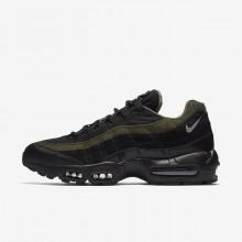 Chaussure Casual Nike Air Max 95 Homme Noir/Kaki/Argent AH8444-001