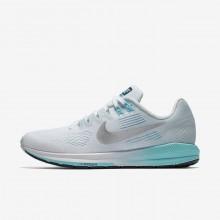 Nike Air Zoom Running Shoes Womens White/Glacier Blue/Polarized Blue/Metallic Silver 904701-104