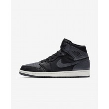 Air Jordan 1 Lifestyle Shoes Mens Black/Summit White/Dark Grey 554724-041