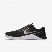 Nike Metcon 4 Training Shoes Womens Black/White/Volt Glow/Metallic Silver 924593-001