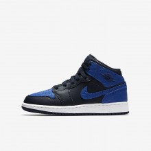 Air Jordan 1 Lifestyle Shoes Boys Obsidian/Summit White/Game Royal 554725-412