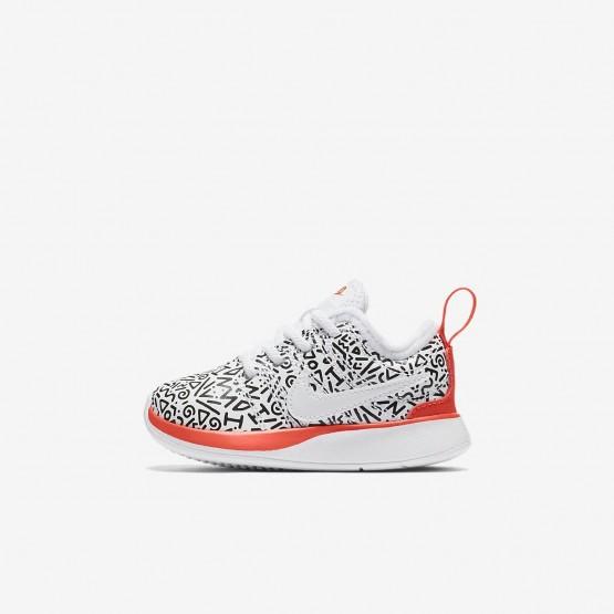 Nike Dualtone Racer Lifestyle Shoes Boys White/Black/Bright Crimson AQ0911-100