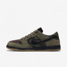 Nike SB Dunk Skateboarding Shoes Mens Medium Olive/Gum Light Brown/University Gold/Black 854866-209