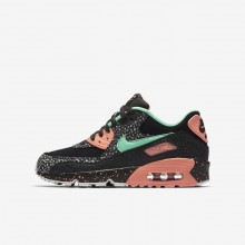 Nike Air Max 90 Lifestyle Shoes Boys Black/Crimson Pulse/Vast Grey/Green Glow AJ2776-001