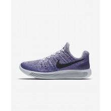 Nike LunarEpic Low Laufschuhe Damen Grau/Lila/DunkelSchwarz 863780-007