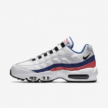 Nike Air Max 95 Lifestyle Shoes Mens White/Solar Red/Ultramarine/Black 749766-106