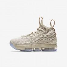 Chaussure de Basket Nike LeBron 15 Garcon Beige 922811-200