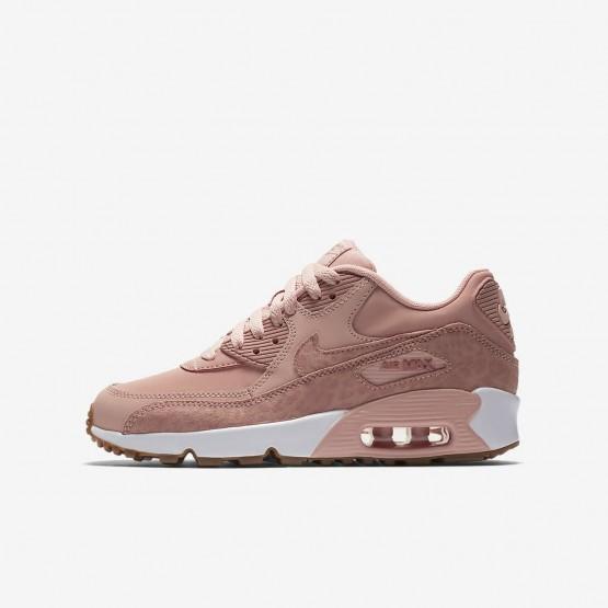 Chaussure Casual Nike Air Max 90 Fille Corail/Blanche/Marron Clair/Rose 897987-601