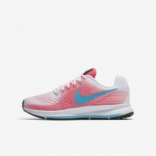 Nike Zoom Pegasus Running Shoes Girls Pink/White/Black/Chlorine Blue 881954-100