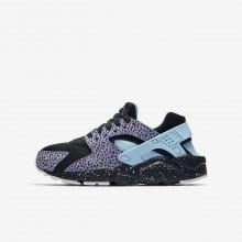 Nike Huarache Lifestyle Shoes Boys Black/Purple Pulse/Summit White/Lagoon Pulse AJ3690-001
