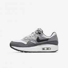 Nike Air Max 1 Lifestyle Shoes Boys White/Wolf Grey/Gunsmoke/Black 807602-108