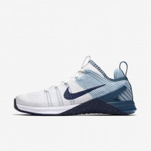 Nike Metcon DSX Training Shoes Womens White/Mica Blue/Night Factor/Navy 924595-101