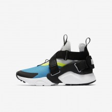 Nike Huarache Lifestyle Shoes Boys Light Blue Fury/Volt/Pure Platinum/Black AJ6662-400