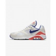 Nike Air Max 180 Lifestyle Shoes Mens White/Solar Red/Ultramarine 615287-100