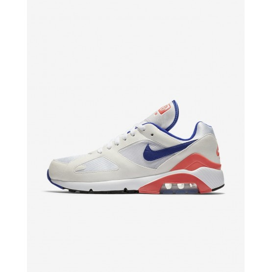Chaussure Casual Nike Air Max 180 Homme Blanche/Rouge 615287-100