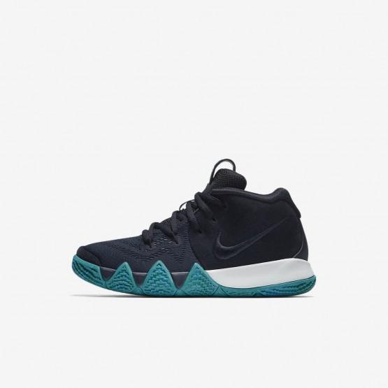 Nike Kyrie 4 Basketball Shoes Girls Dark Obsidian/Black AA2898-401