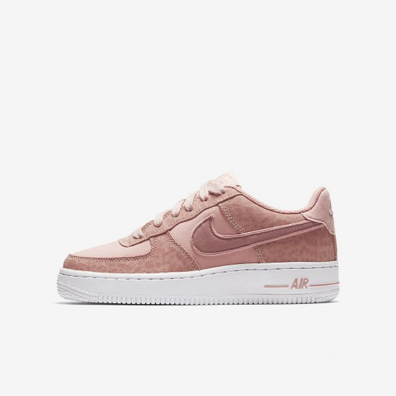Chaussure Casual Nike Air Force 1 Fille Corail/Blanche/Rose 849345-600